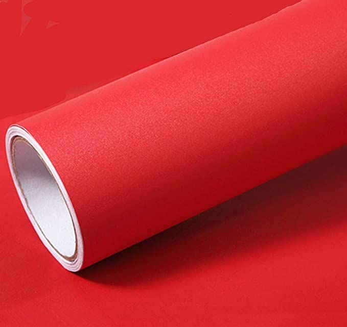 Solid Color Matte Textured Vinyl Peel and Stick Wallpaper