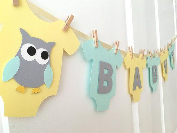 Bebé mono una sola pieza BABY Búho bebé ducha por BubblyNewYork