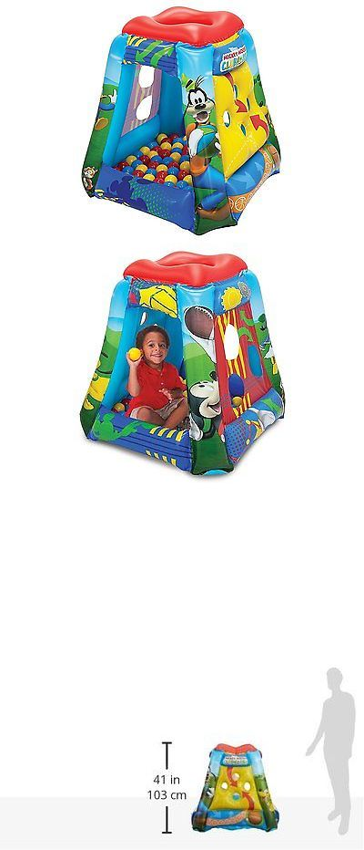 Play Tents 145997: Inflatable Mickey Mouse Ball Pit Play House Unisex Toddlers Kids Portable Tent -> BUY IT NOW ONLY: $44.53 on eBay!