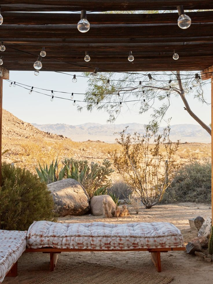 outdoor daybed at the joshua tree casita airbnb kate sears photo