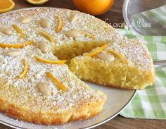 Caprese all'arancia e cioccolato bianco torta profumata e golosa