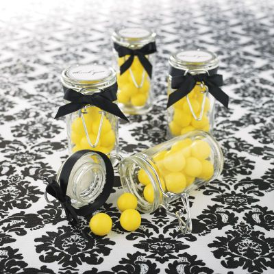 With pewter ribbon?: Table Favor, Wedding Favors, Colorful Candy, Banquet Weddings, Wedding Colors, Edible Favors