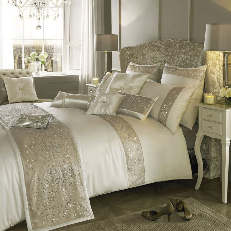 Kylie Minogue at Home Duo Oyster Bed Linen.... FREE SHIPPING & DISCOUNTED PRICES #KylieMinogueAtHome
