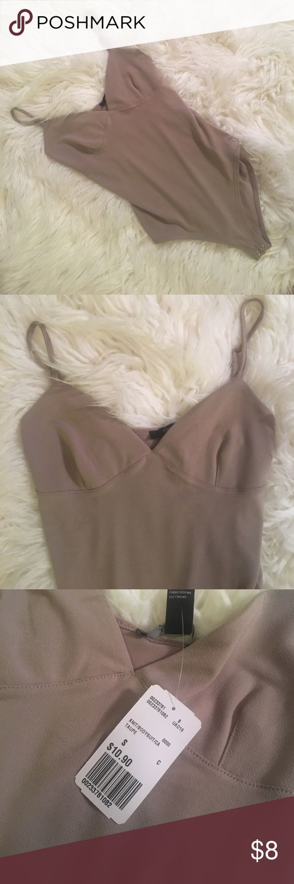 Tan Nude Beige Cami Bodysuit Brand new. Size small. NO TRADES. NO PAYPAL. NO HOLDS. Forever 21 Tops