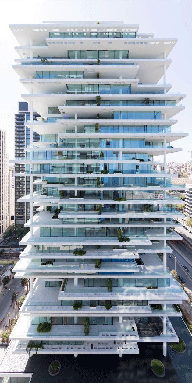 The 'vertical village', Beirut Terraces in Lebanon