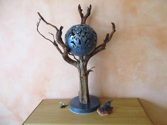 Schwemmholz-Keramik-Leuchte aus massivem Holz Treibholz mit
