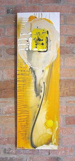 Art/Konst. Acrylic on canvas/Akryl på duk. 30 x 100 cm. By Camilla Nilsson, Camilla Nilsson Design.