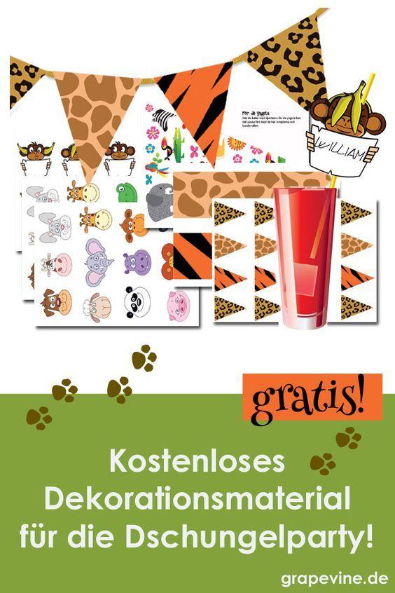 Kostenloses Dekorationsmaterial für die Dschungelparty!  – Grapevine.de | Schatzsuche