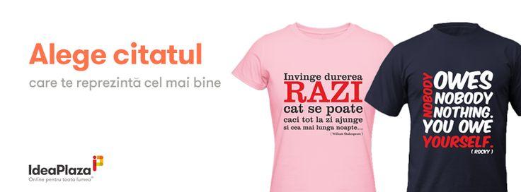 NOU - Tricouri Personalizate cu Citate Celebre - http://goo.gl/QIBdYf