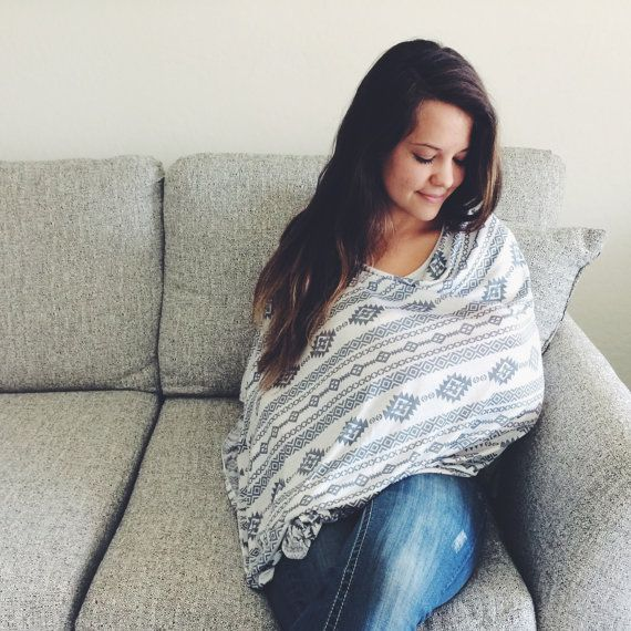 Lightweight Aztec Nursing Cover Poncho / by MilkmaidGoods