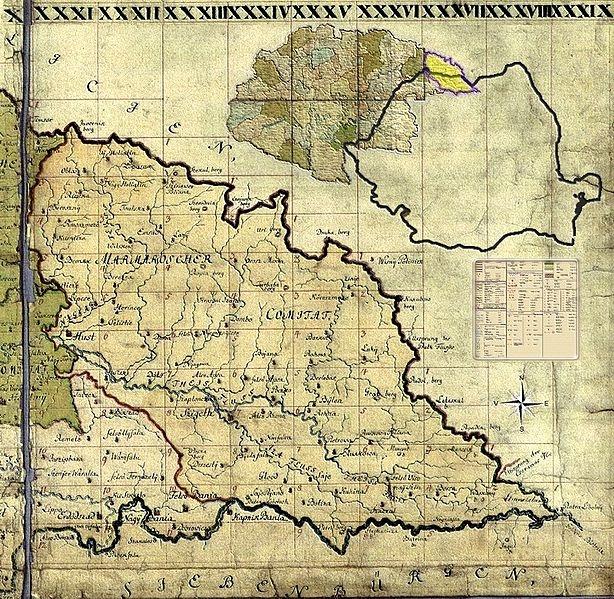 1782-1785: Maramures, Josephinische Landesaufnahme 1782-1785.