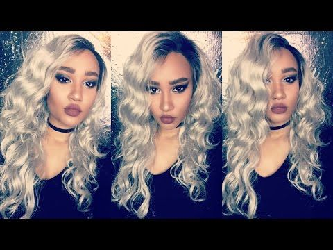 STORM INSPIRED| OMBRE SILVER/GREY FRIDAY NIGHT HAIR LACE FRONT GLS02 - YouTube