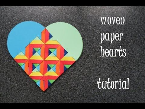 woven paper hearts - tutorial - dutchpapergirl - YouTube
