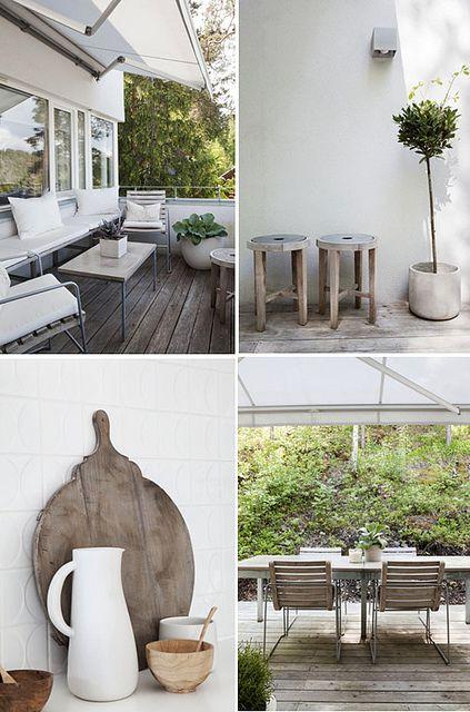 White garden details.