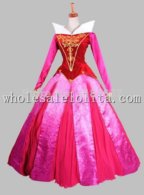 Cosplay Sleeping Beauty Princess Aurora Adult Stage Costume Dress Party Dress Cosplay Dress