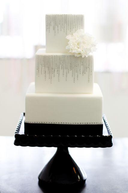 Modern, Elegant, Silver Line Cake. Wedding Cakes Gallery « Sweet & Saucy Shop Sweet & Saucy Shop