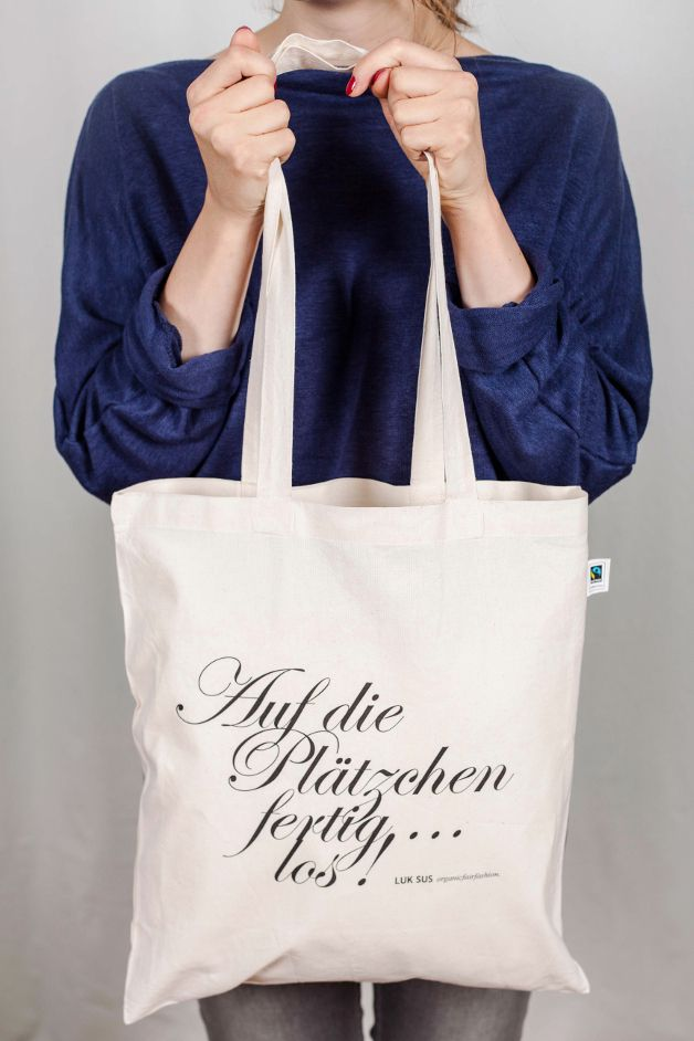 Jutebeutel mit Spruch // quote tote bag via DaWanda.com (Diy Clothes Dye)
