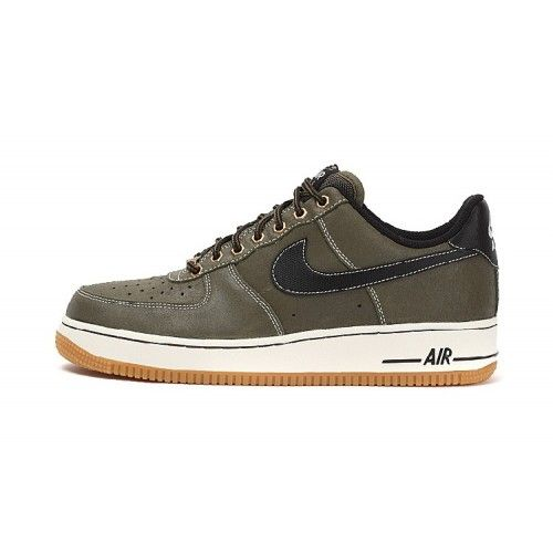 Bast Nike Air Force 1 Herr Low Gra Guld Skor