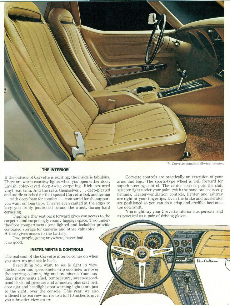 1974 Chevrolet Corvette Interior | Flickr - Photo Sharing!