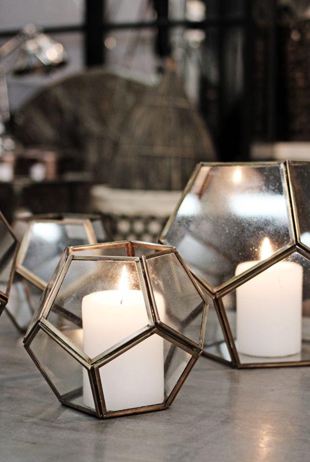 ❤ Geometric Candle Holders