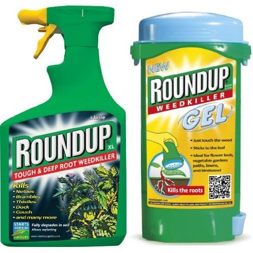 From 5.71 Scotts Miracle-gro Roundup Tough Weedkiller Ready To Use Spray 1 L & Scotts Miracle-gro Roundup Weedkiller Gel Spot Treatment 150 Ml Set