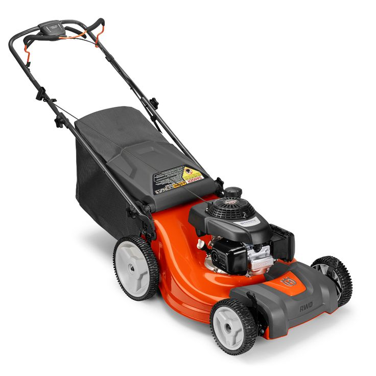 Husqvarna LC221Rh 160cc 21-in Self-Propelled Rear Wheel Drive Residential Gas Lawn Mower with Mulching Capability