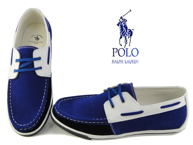 Polo Ralph Lauren Boat Shoe Blue White