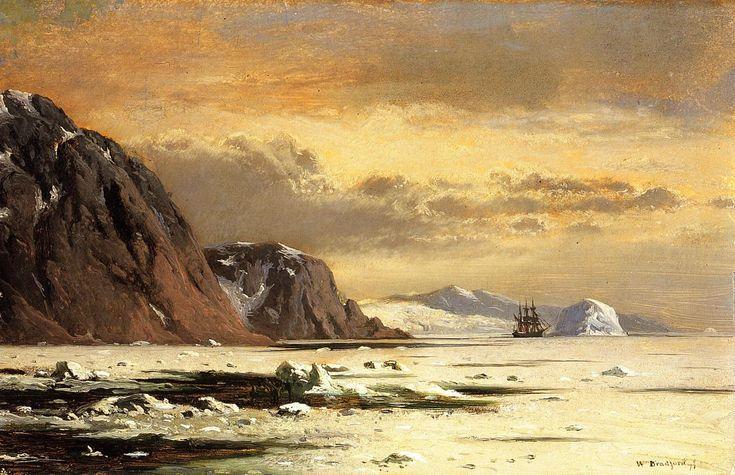 Seascape with Icebergs William Bradford (1877)