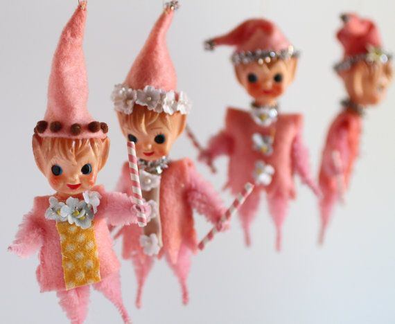 The Candyland Sugarplum Elf - Vintage mini doll by Mab Graves
