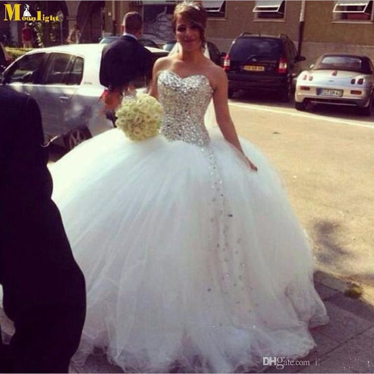 Cheap corset dresses online, Buy Quality dress consultant directly from China dress jilbab Suppliers:  White Ball Gown Wedding Dress 2015 Spring Tulle Sweetheart Corset Cheap with Crytal Custom Vestido De Noiva Bri