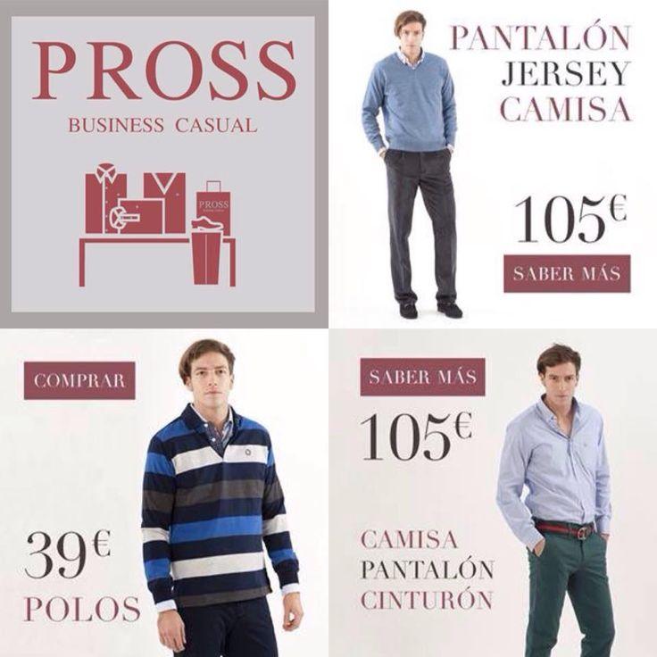 Prendas para él a precios ¡¡IRRESISTIBLES!! PROSS BUSINESS CASUAL Zielo, ¡¡A qué esperas!!  #Zielo #ProssBussinesCasual www.prosscasual.com