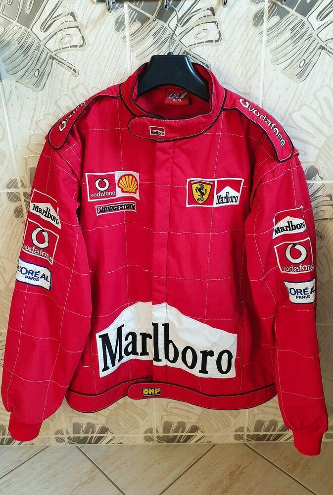 F1 Ferrari Jacket Marlboro Fashion Clothing Shoes Accessories Mensclothing Ferrari Denim Coat Jacket Mens Sweatshirts Jackets