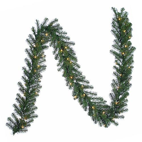 THIS IS THE GARLAND I ALWAYS BUY  Trim A Home® Trim A Home® Northern Pre-Lit Christmas Garland with Clear Lights 9 ft