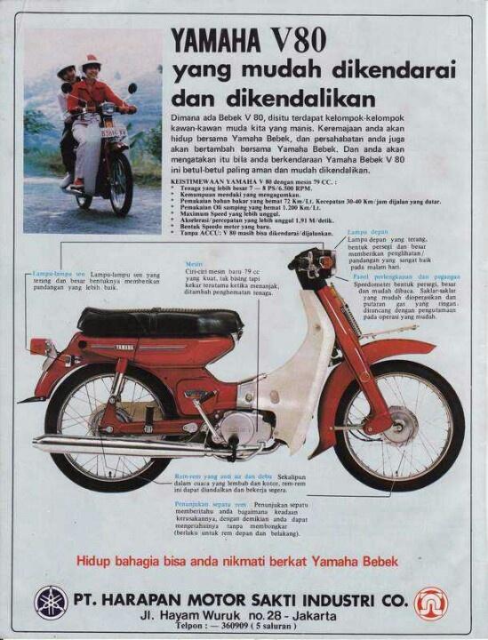Yamaha V 80, Indonesien