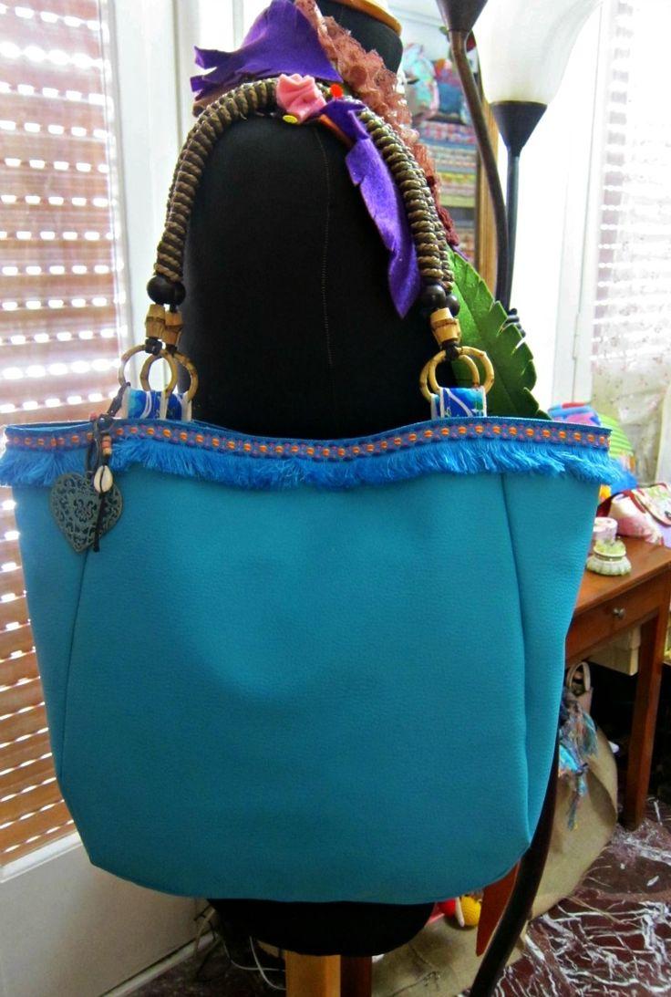 Sea blue bag - RiRi Yfasma (RiRiYfasma.gr)