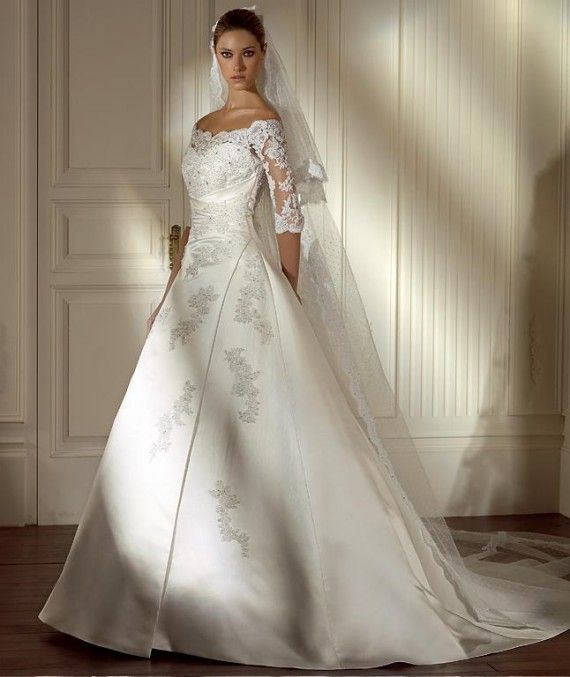 elegant wedding gowns | 2010 Elegant Wedding Gown With Sleeves Picture 1