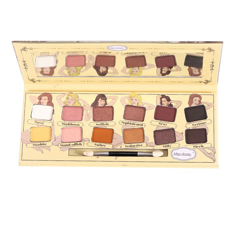 Miss doozy Eyeshadow Shadow Pallete Glitter Balm Naked Palette Smoky Brow Cosmetic Makeup Natural Matte Gift Pro Nude 12 Color <3 This is an AliExpress affiliate pin.  Find out more on AliExpress website by clicking the image