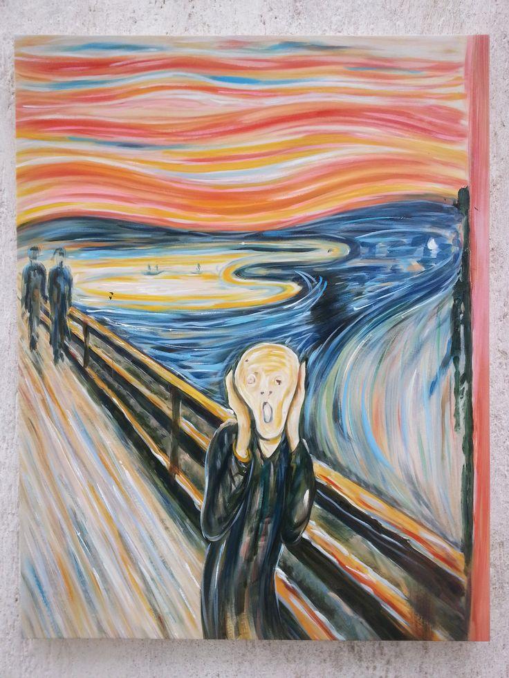 Foto reali della nostra riproduzione del dipinto di Edvard Munch - L'Urlo. Lo mettereste nel vostro ufficio?