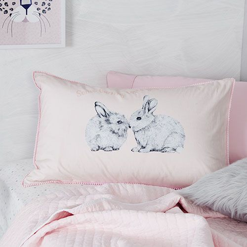 Text Pillowcase Some Bunny Loves You