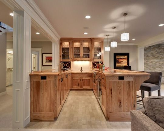 basement remodel with built in bar area for perfect entertaining space home remodel