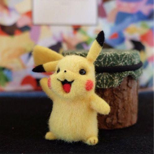 Beautiful Needle felting wool animals pokemon pikachu (Via @xuehan_cheng)