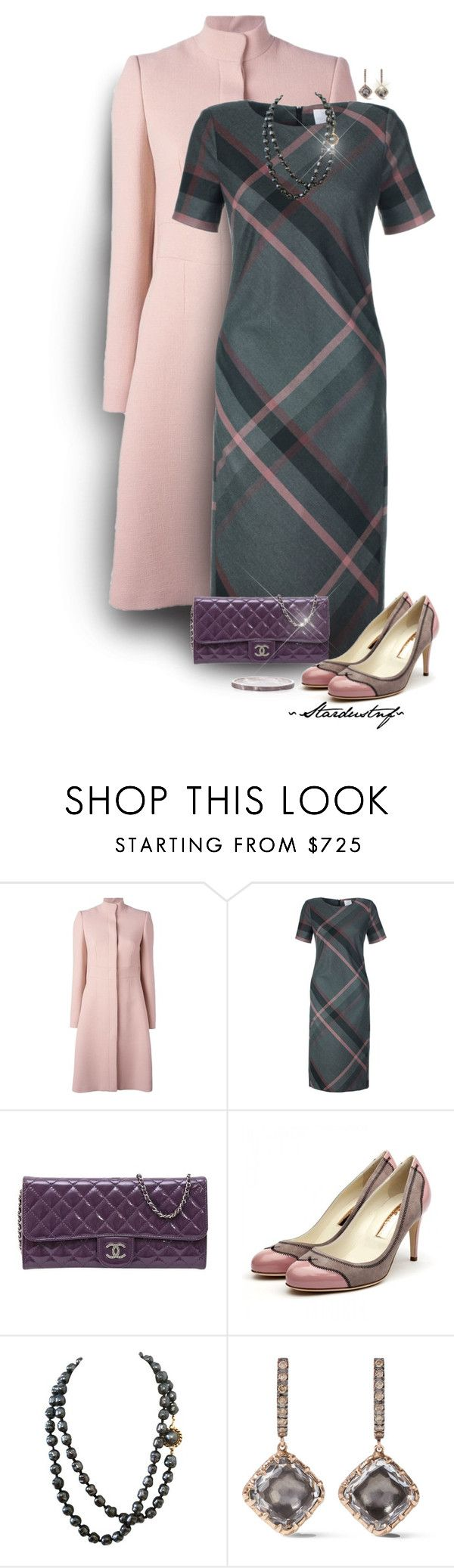 """Plaid Dress - Wherever You Go (Outfit Only)"" by stardustnf ❤ liked on Polyvore featuring Trilogy, Alexander McQueen, Chanel, Rupert Sanderson, Larkspur & Hawk, Alexa K, AlexanderMcQueen, plaid, clutchcrush and fearlesscrew"