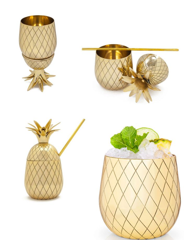 Pineapple Cocktail Tumblers! I need these pineapple glasses in my life STAT! The perfect hostess gift too.