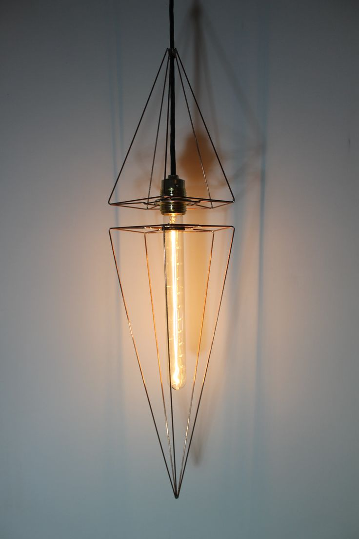 Futuristic lampshade design, with a T30 edison bulb, handmade build by vonBlau.