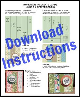 85 best stampin up designer series papers images on pinterest instructions for making some fun and easy cards using stampin up designer series paper pronofoot35fo Choice Image