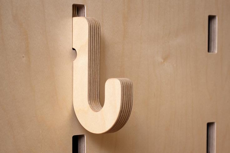 Kerf Design in Seattle. Kerf Wall hook.