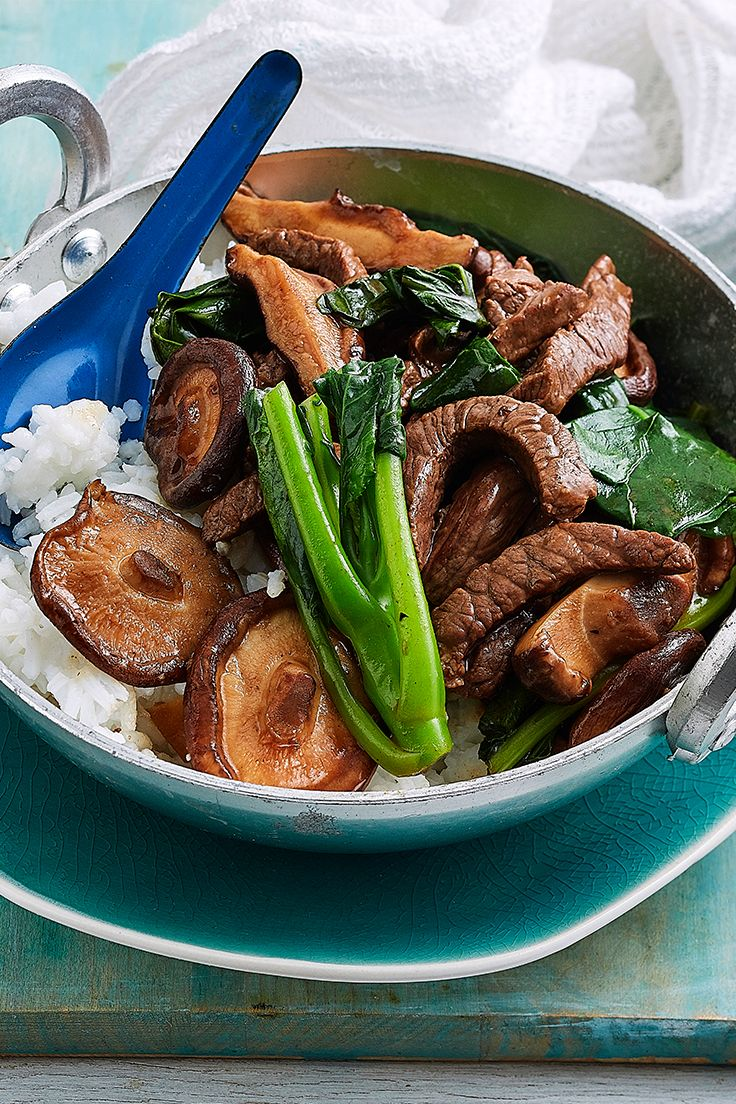 Tender beef strips are the star of this Asian-inspired dish. Just serve on a bed of steamed rice with healthy mushrooms and Asian greens, it's a quick and easy dinner that is guaranteed to please.