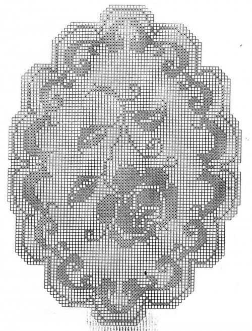 shema-57   Beautiful oval rose filet doily
