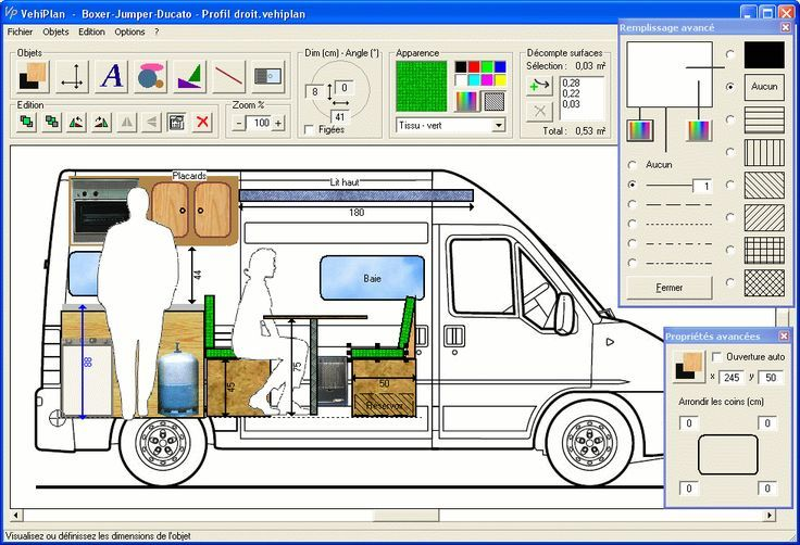 Le Trafic aménagé d'Olivier Collonge - VehiPlan, logiciel de plans d'aménagement de véhicule