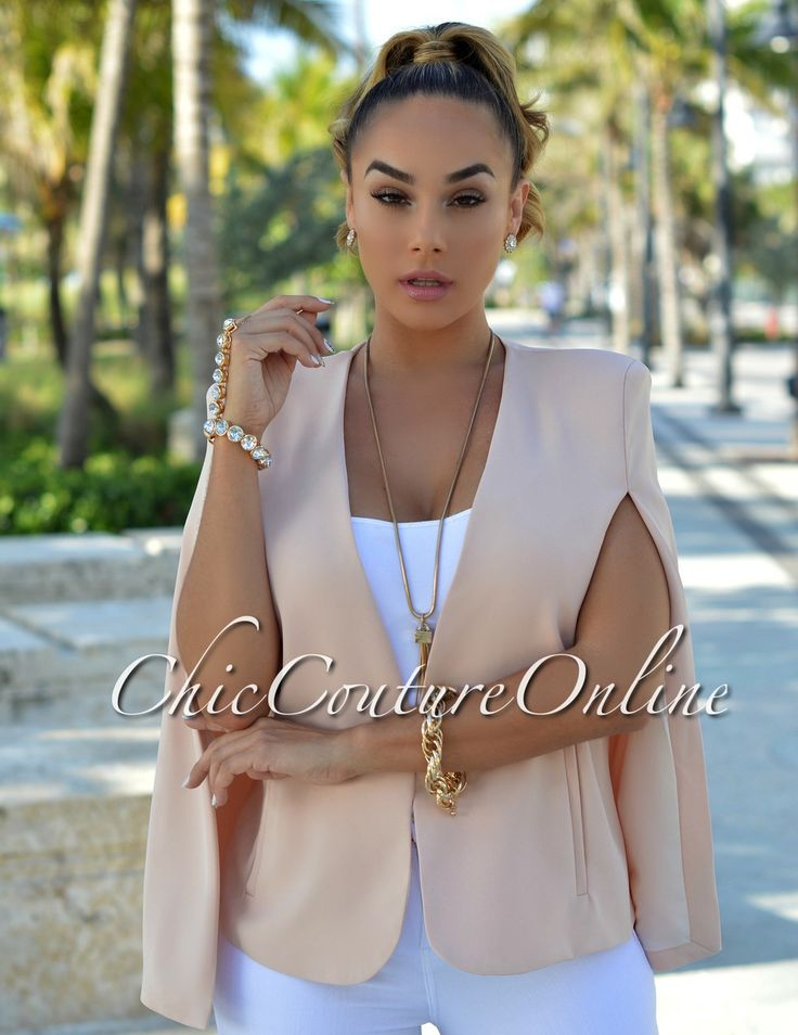 Chic Couture Online - Dolce Soft Peach Luxe Cape Jacket.(http://www.chiccoutureonline.com/dolce-soft-peach-luxe-cape-jacket/)